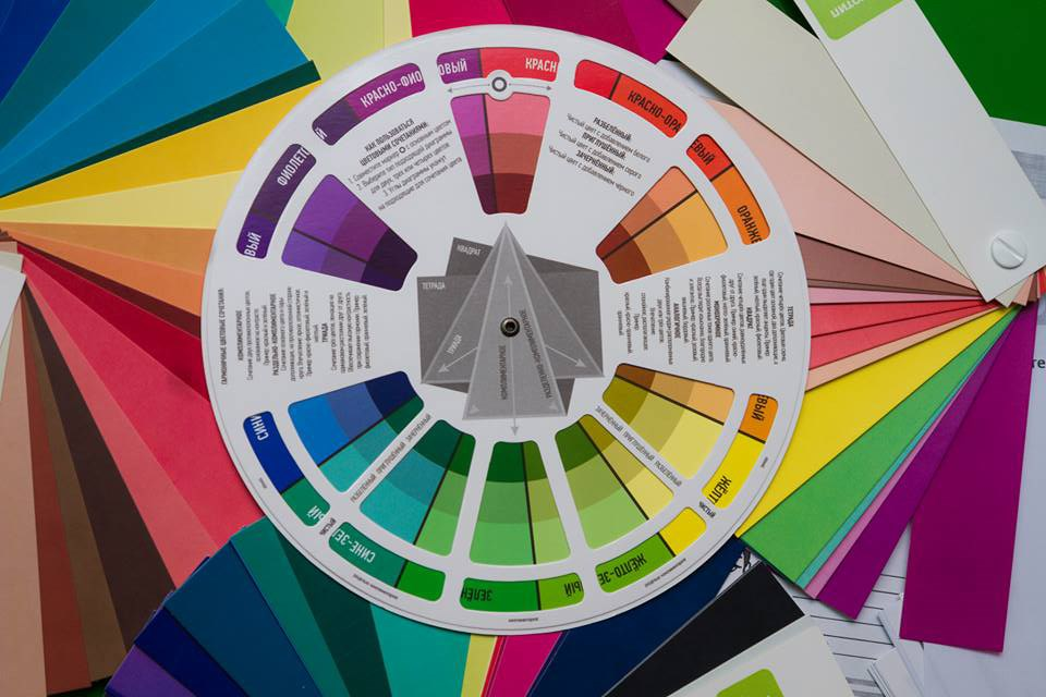 цветовой круг сочетания в одежде фото вам