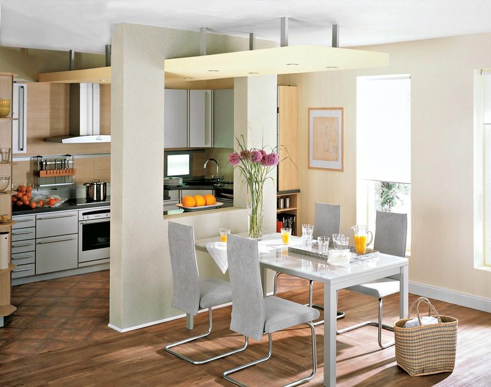смело фото перегородок в кухонной зоне использование