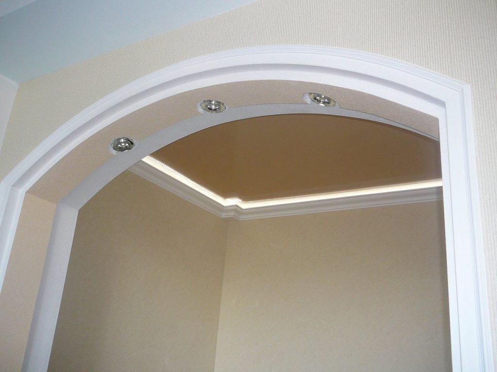 односторонняя арка из гипсокартона фото